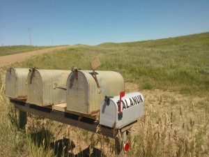 Mail in rural north dakota