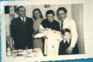 Christening in Augustdorf DP camp 1953